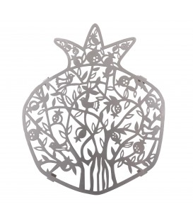 Trivet - Stainless Steel - Laser Cut - Pomegranates + Birds