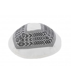 Kippah - Different Fabrics-black/white