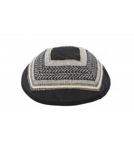 Kippah - Different Fabrics -brown+black