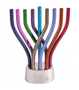Hanukkah Menorah - Flame - Multicolor