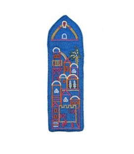 Bookmark - Embroidered - Jerusalem Blue