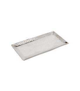 Tray - Stainless Steel + Hammer Work 20*32 cm