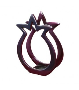 Painted Aluminium Napkin Holder - Red Pomegranate