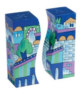 Salt & Pepper Shakers - Jerusalem Blue