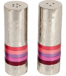 Salt & Pepper Shakers - Rings - Marron