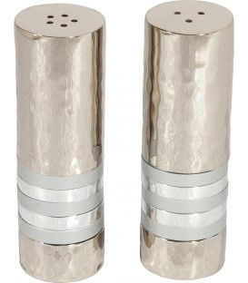 Salt & Pepper Shakers - Rings - Silver