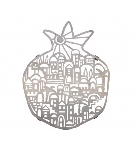 Trivet - Stainless Steel - Laser Cut - Jerusalem