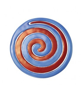 Aluminium Trivet - Painted -  Two Pieces - Spiral Red + Blue