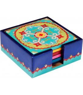Printed 6 Wooden Coasters - Oriental