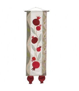 Long Wall Hanging - Pomegranates - Gold