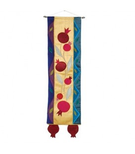 Long Wall Hanging - Pomegranates - Multicolor