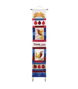 Long Wall Hanging - Shalom English - Multicolor