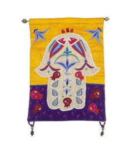 Small Wall Hanging - Hamsa + Fish - Multicolor