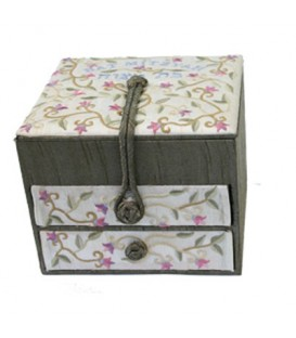 Embroidered Jewelry Box + Two Drawers - Bat Mitzvah