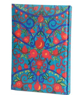 Hard Cover Notebook - Medium  -Pomegranates