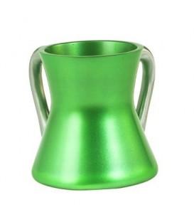 Small Netilat Yadayim Cup - Aluminium - Green