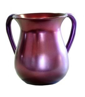 Netilat Yadayim Cup - Aluminium - Maroon