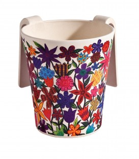 Netilat Yadayim Cup - Bamboo - Flowers