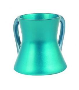 Small Netilat Yadayim Cup - Aluminium - Turquoise