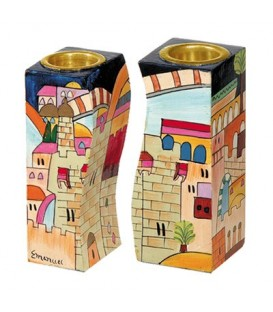 Fitted Candlesticks - Jerusalem Multicolor
