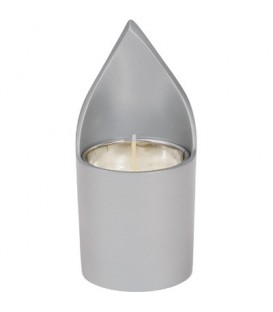 Memorial Candle Holder + Candle - Natural Aluminium