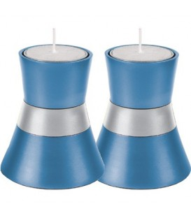 Small Candlesticks - Light blue