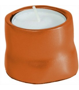 Single T- Light Holder - Orange