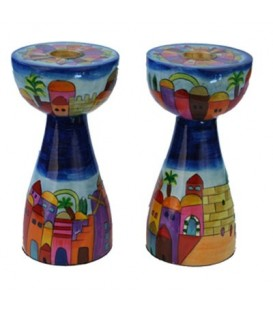 Candlesticks - New Shape - Medium - Jerusalem