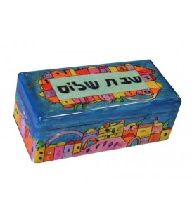 "Travel Candlesticks in Box - ""Shabbat Shalom"""