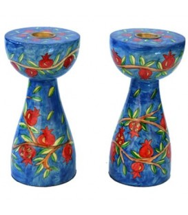 Candlesticks - New Shape - Medium - Pomegranates