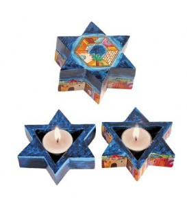 Magen David Candlesticks - Jerusalem