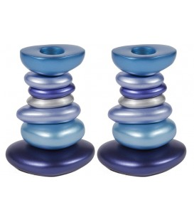 Stone Candlesticks - Blue