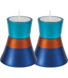 Small Candlesticks - Turquoise + Blue
