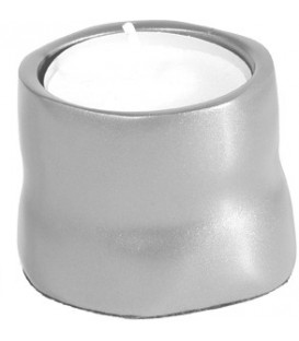 Single T-Light Holder - Aluminium Matt