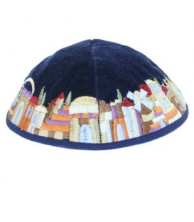 Kippah - Velvet + Embroidered - Multicolor