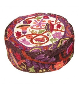 Hand Embroidered Hat - Multicolor