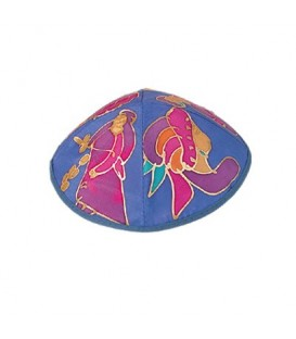 Silk Painted Kippah - Miriam