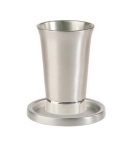 Kiddush Cup + Plate  - Aluminium