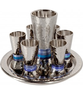 Kiddush Set - Rings - Blue