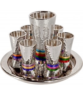 Kiddush Set - Rings - Multicolor
