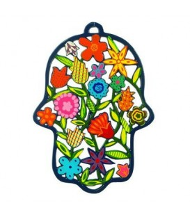 Hamsa - Painted - Laser Cut - Flowers