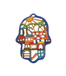 Hamsa - Painted - Laser Cut - Jerusalem