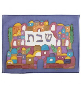Silk - Painted Challah Cover- Armenian Jerusalem