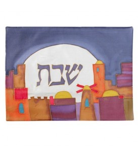 Silk - Painted Challah Cover- The Windmill