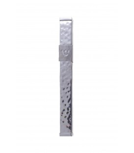 "Mezuza ""Shin"" Stainless Steel 12 cm - Hammer Work"