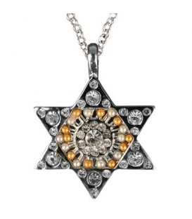 Necklace - Magen David - Silver