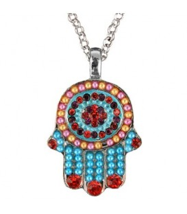 Necklace - Small Hamsa - Multicolor