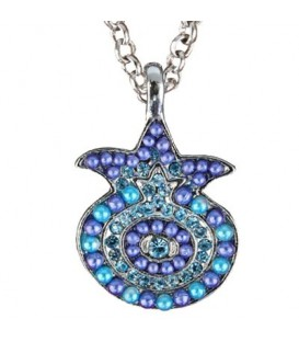 Necklace - Pomegranate - Blue