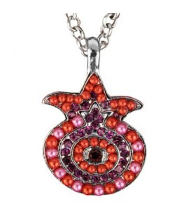 Necklace - Pomegranate - Maroon