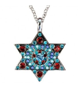 Necklace - Magen David - Multicolor